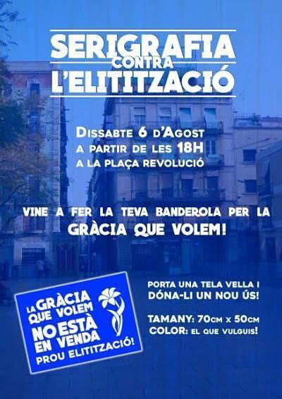 Vine a fer la teva banderola per la GRÀCIA QUE VOLEM | Plaça Lesseps | Scoop.it