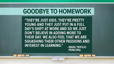 Goodbye to homework: More schools give students the night off | Kickin' Kickers | Scoop.it