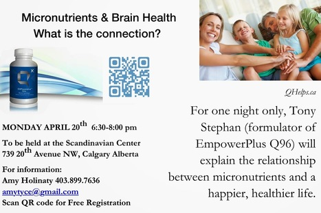 Q Helps: Micronutrients and Brain Health. What is the Connection? | Health and Wellness products from Q Sciences | Scoop.it