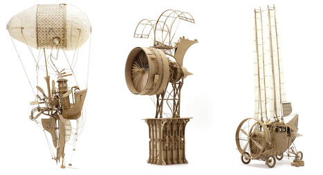 Intricate Cardboard Models of Theoretical Flying Machines   Strange days indeed...   Scoop.it