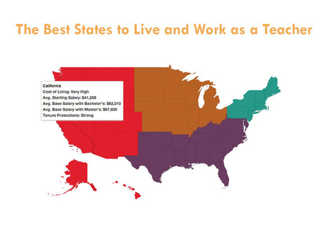 The Best States To Live And Work As A Teacher | Aprendiendo a Distancia | Scoop.it