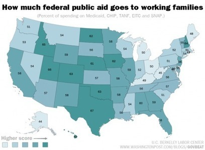 How much each state spends on aid to poor workers | INTRODUCTION TO THE SOCIAL SCIENCES DIGITAL TEXTBOOK(PSYCHOLOGY-ECONOMICS-SOCIOLOGY):MIKE BUSARELLO | Scoop.it