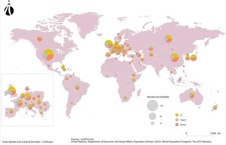 Les Jeux Olympiques de Rio en cartes | Mind Mapping | Scoop.it
