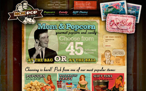 45 Great Examples of Retro Website Design | Basics and principles for a good  Web Design | Scoop.it