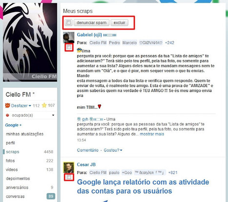 Várias novidades hoje no Orkut: Confira | Cultura de massa no Século XXI (Mass Culture in the XXI Century) | Scoop.it