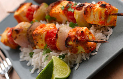 BBQ tofu kebabs with a mustard mayonnaise dressing - Channel4 - 4Food | Healthy Eating - Recipes, Food News | Scoop.it