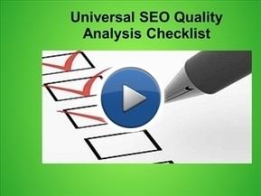 Universal SEO Quality Analysis Checklist | SEO | Scoop.it