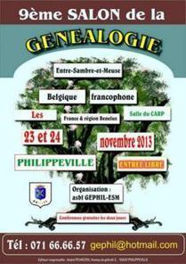 Philippeville (Belgique), le salon de généalogie à ne pas manquer. 23 et 24 novembre 2013 | Votre Généalogie | Histoire Familiale | Scoop.it