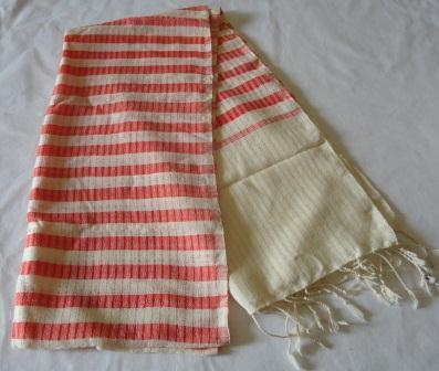Cotton traditional striped scarf, ethically handmade by local disadvantaged weavers   Silk Scarfs, Ethically handmade   Scoop.it