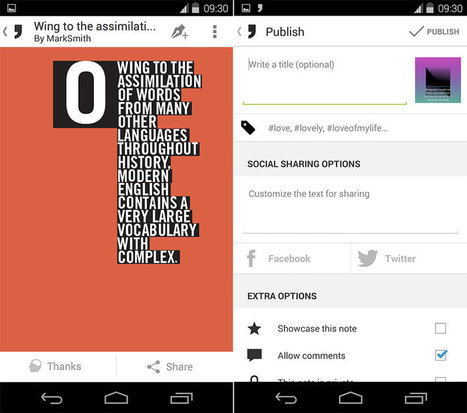L'Instagram de la typographie s'appelle Notegraphy - FrAndroid | Ca m'interpelle... | Scoop.it
