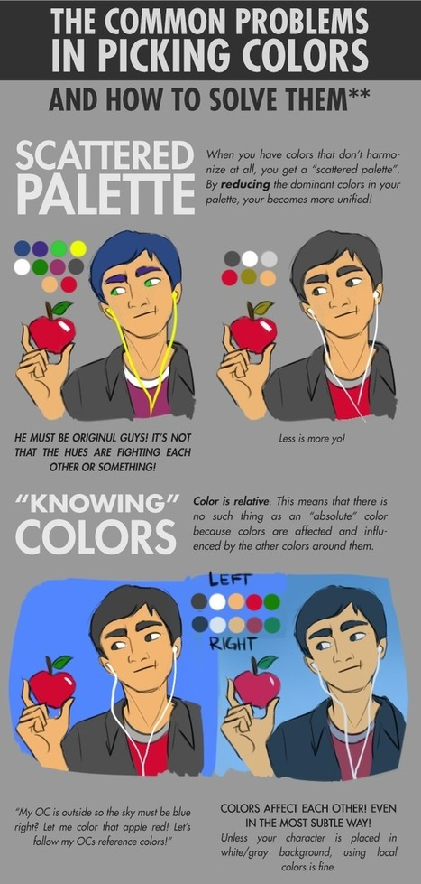 The Common Problems in Picking Colors | Drawing References and Resources | Scoop.it