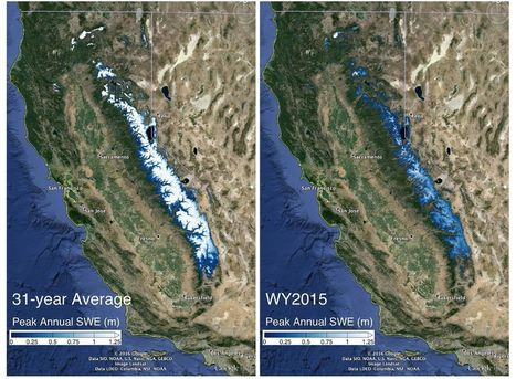 Sierra Nevada snowpack not likely to recover from drought until 2019 | Understanding Water | Scoop.it
