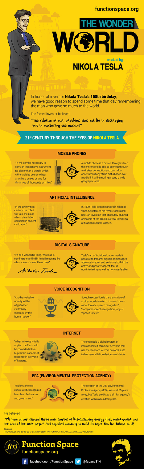The Nikola Tesla Infographic | IP Communications & VoIP | Scoop.it