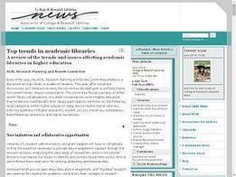 Las principales tendencias ACRL en bibliotecas universitarias | Universo Abierto | Bibliotecas y Educación Superior | Scoop.it