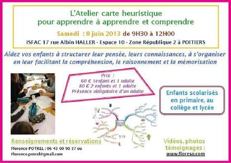 Atelier carte heuristique pour apprendre à apprendre et comprendre samedi 8 juin à Poitiers | Le Mind Mapping | Scoop.it
