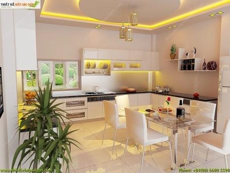 Thiết Kế Bếp Gia Đình: 10 ý tưởng phối màu thiết kế nhà bếp theo phong cách sáng bóng | Xu hướng cho các mẫu thiết kế bếp đẹp hiện đại | Scoop.it