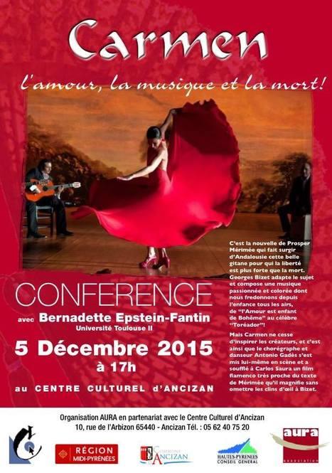 Conférence sur Carmen au Centre culturel d'Ancizan le 5 décembre   Vallée d'Aure - Pyrénées   Scoop.it
