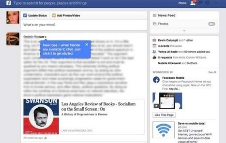 #Facebook teste un indicateur de présence | Social media | Scoop.it