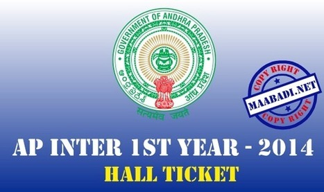 AP Inter 1st year Hall Tickets 2014 Download at bieap.cgg.gov.in | maabadi.net | Scoop.it