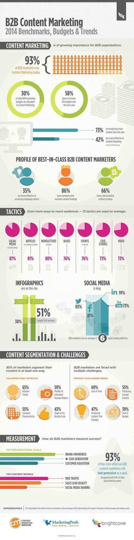 [Infographie] Point sur le marketing des contenus (Content Marketing) | inbound marketing | Scoop.it