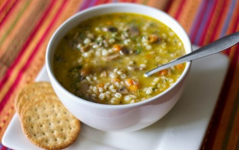 Easy Vegan Golden Pea & Barley Slow Cooker Soup | Recipes | Scoop.it