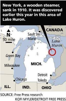 Canton man discovers shipwreck in Lake Huron | Under Water | Scoop.it