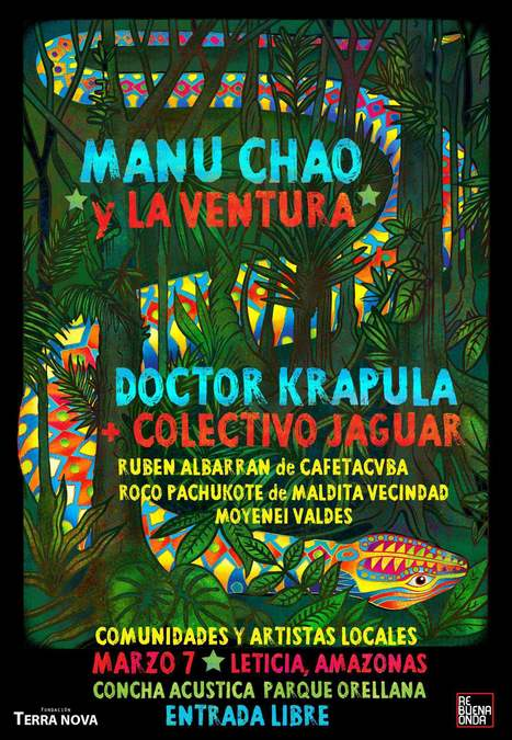 Doctor Krapula e Manu Chao: tour colombiano a sostegno dell'Amazzonia | Music News Italia | Scoop.it