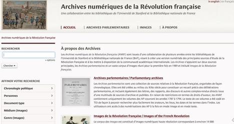 Les archives numériques de la Révolution Française | ent, tbi & tablettes: usages pédagogiques | Scoop.it