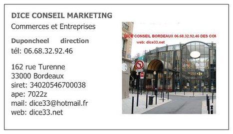 DICE BORDEAUX 0668329246 www.dice33.net CONSEIL MARKETING MANAGEMENT COMMERCE ENTREPRISE INDUSTRIE | Conseils Manager des PME 06.68.32.92.46 - www.dice33.net | Scoop.it