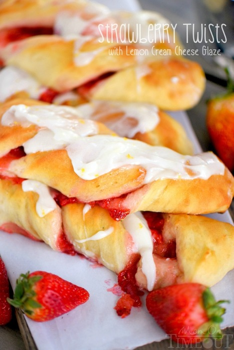 Strawberry Twists with Lemon Cream Cheese Glaze - Mom On Timeout | Passion for Cooking | Scoop.it