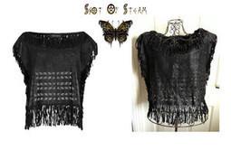 New All Saints EVRA Black Leather Fringe Top RRP £180 BNWT Boho Festival Vintage | Shot Of Steam | Scoop.it