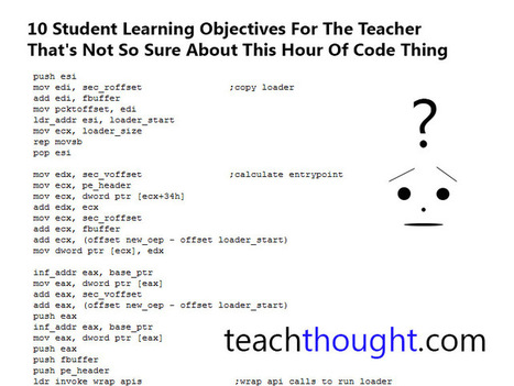Sample Student Learning Objectives For Hour Of Code - TeachThought | Edtech | Scoop.it