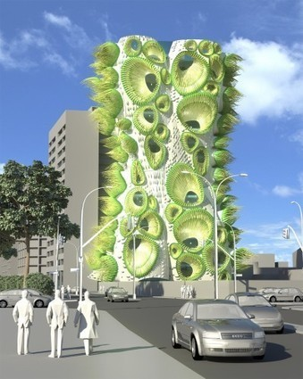 B+U's Housing Tower Rethinks Window DNA | architecture verte | Scoop.it