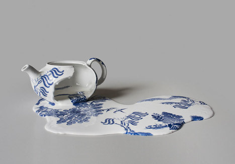 """""""Nomad Patterns"""" melting ceramics by Livia Marin 