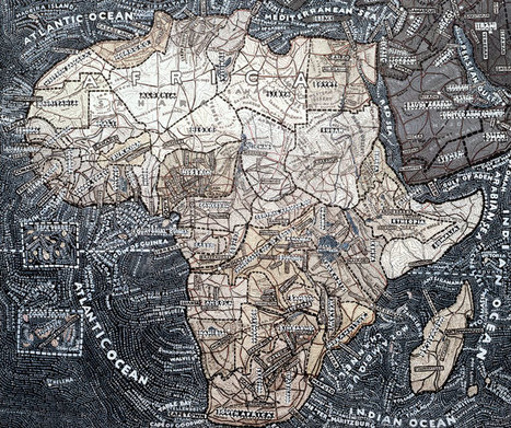 Stunning Subjectivity: Paula Scher's Obsessive Hand-Painted Maps ... | Cartography | Scoop.it