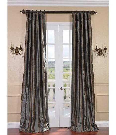 Buy Preston Silk Taffeta Stripe Curtains and Drapes | window curtains | Scoop.it