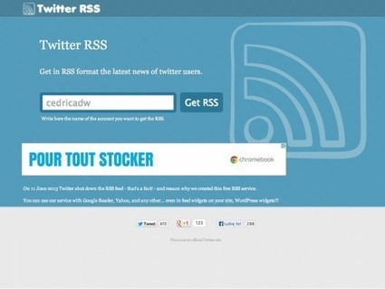 Twitter RSS, ou comment créer un flux RSS de n'importe quel compte Twitter | Le Top des Applications Web et Logiciels Gratuits | Scoop.it