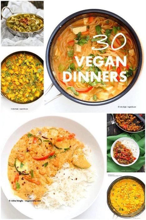 30 Easy Vegan Dinner Recipes - Vegan Richa | Vegan Food | Scoop.it