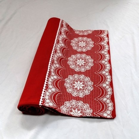 Lacey Red Table Runner by Rapee - Manchester House | Soft Furnishings | Scoop.it