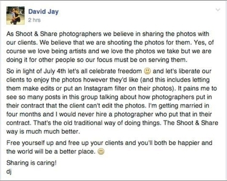 David Jay Stirs Up Controversy, Urges You to Give Up Certain Rights to Your Work - PetaPixel   Photography   Scoop.it