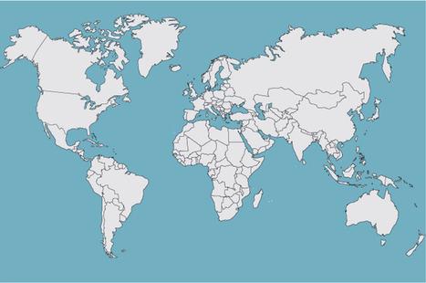 Carte interactive  des industries créatives dans le monde - Inaglobal | Le monde sous toutes ses cartes | Scoop.it