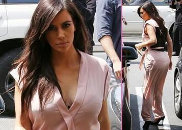 Kim Kardashian: Pale Pink During Grandma Lunch Date ... | Celebrity News And Gossips | Scoop.it