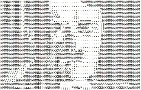 ASCII Art Attempt: Hitler | ASCII Art | Scoop.it