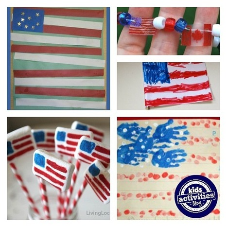 30 American Flag Crafts - Kids Activities Blog | Top 10 Summertime Kids Crafts | Scoop.it