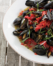 Steamed Mussels with Tarragon Recipe - Tom Colicchio | Food & Wine | SEAFOOD RECIPES | Scoop.it