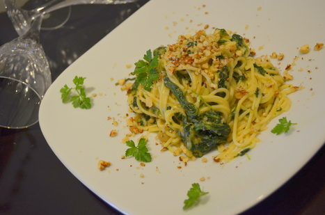 Spaghetti de Espinafres e Farinheira com Noz | Foodies | Scoop.it