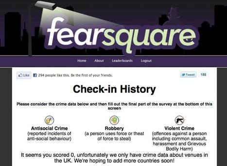 Fearsquare : quel est le taux de criminalité de votre ville ? | Ambiance communauté & social media | Scoop.it