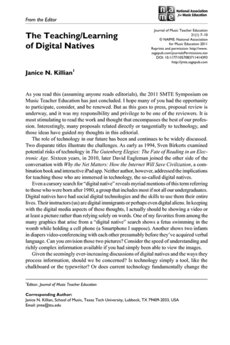 The Teaching/Learning of Digital Natives | The Benefits & Challenges of ePortfolio Use - ePortfolios for Arts Students | Scoop.it