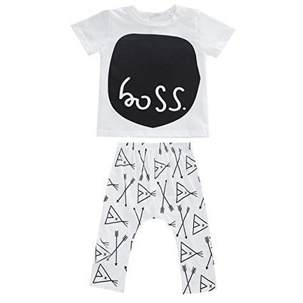2pcs Newborn Toddler Kids Baby Boys Girls T-shirt Tops+Pants Outfits Clothes Set | Blogging | Scoop.it