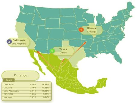 Interactive maps  Mexico-USA migration channels | Hum Geo | Scoop.it